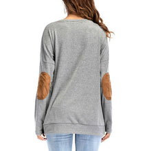Load image into Gallery viewer, Rainbow Printed Round Collar Long Sleeved Patch Collage Hoodie
