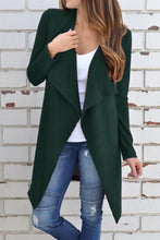 Load image into Gallery viewer, Casual  Fold Over Collar  Plain Cardigans