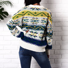 Load image into Gallery viewer, Snowflake Christmas Casual Long Sleeve Sweater