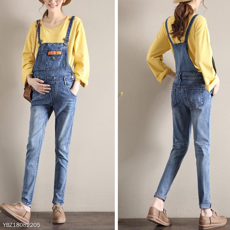 Maternity Light Blue Overall Slim Line