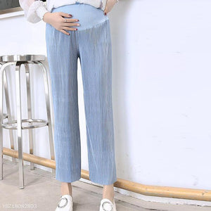 Maternity Pleated Ninth Wide Leg Pants