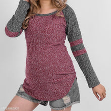 Load image into Gallery viewer, Maternity Raglan  Sleeve Colouring  Sweater
