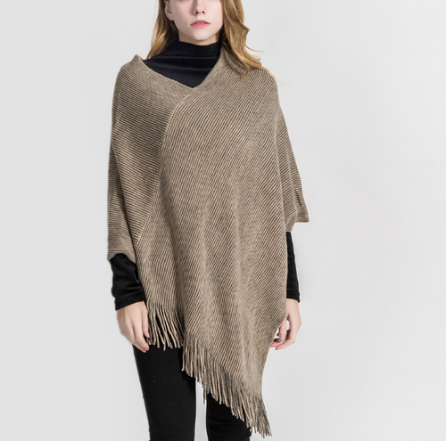 Maternity Solid Color Cashmere Tassel Shawl