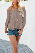 Load image into Gallery viewer, Off Shoulder  Plain  Blouses