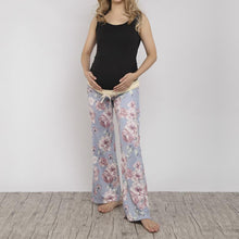 Load image into Gallery viewer, Maternity Floral Pattern Wide Leg Trousers