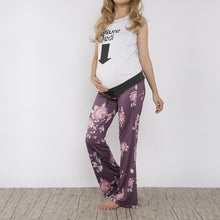 Load image into Gallery viewer, Maternity Print Frenulum Broad Leg Women Trousers