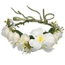 Load image into Gallery viewer, Flower Crown Wreath Headband Beach Travel Garlands Lady Women With Forehead Prop For Party Hair Accessories