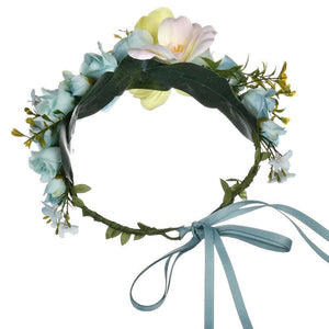 Flower Crown Wreath Headband Beach Travel Garlands Lady Women With Forehead Prop For Party Hair Accessories