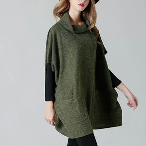 Maternity Solid Color Batwing Sleeve Loose Knit Tops