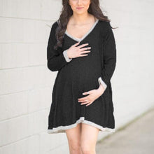 Load image into Gallery viewer, Maternity V-Neck Long-Sleeved Casual Dress