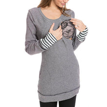 Load image into Gallery viewer, Multifunctional Detachable Collar Maternity Nursing Hoodie
