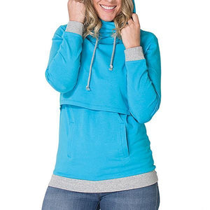 Multi-Function Lactation Long Sleeves Hoodie