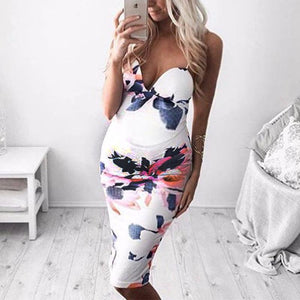 Maternity Printed Sheath Dress