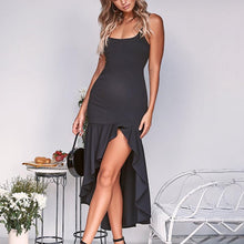 Load image into Gallery viewer, Maternity Sexy Backless Ruffle Sling Strap Dress