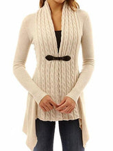 Load image into Gallery viewer, Ribbed Irregular Hem Knitted Cardigan