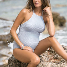 Load image into Gallery viewer, Maternity Halter Ribbed One Piece Swimsuit