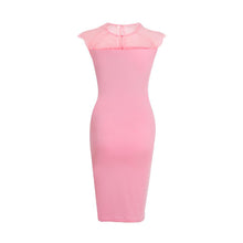 Load image into Gallery viewer, Maternity Lace Patchwork Bodycon Dress