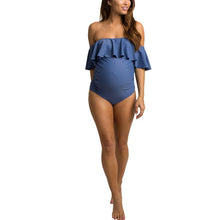 Load image into Gallery viewer, Solid Color Maternity One-Piece Beach Suit