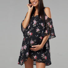 Load image into Gallery viewer, Maternity Sexy V-Neck Printed Mini Dress