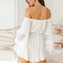 Load image into Gallery viewer, Maternity Flare Sleeve Off The Shoulder Mini Dress