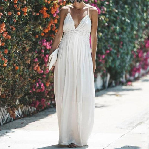 Maternity Solid Color Maxi Cami Dress