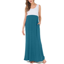 Load image into Gallery viewer, Maternity Sleeveless Maxi Dress