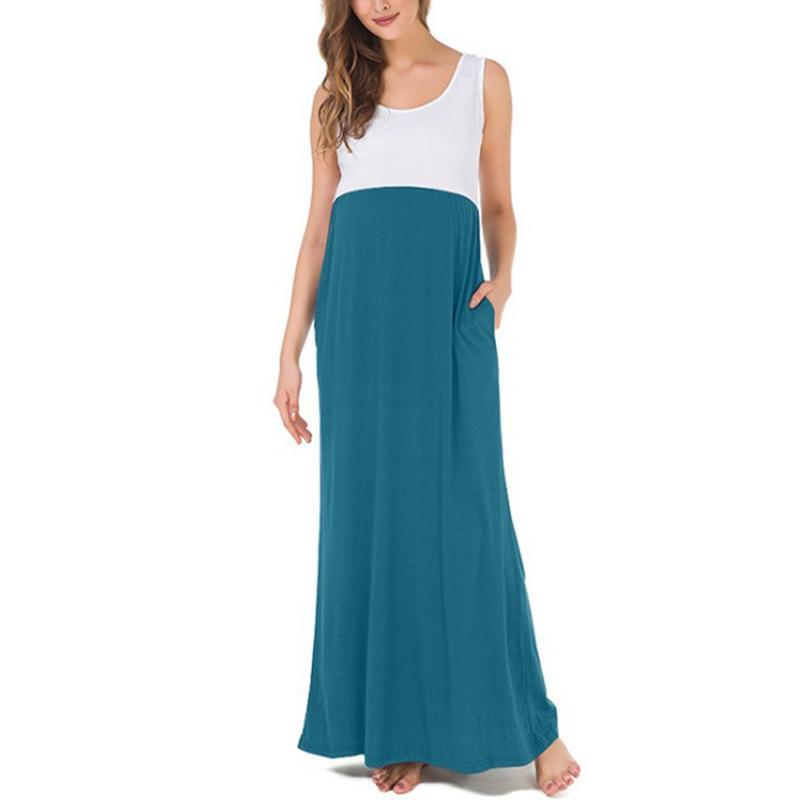 Maternity Sleeveless Maxi Dress