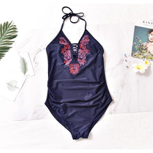 Load image into Gallery viewer, Maternity Sexy Embroidered One-Piece Swimsuit