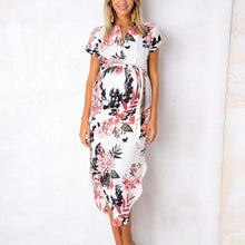 Load image into Gallery viewer, Maternity V-Neck Short Sleeve Printing Casual Dress