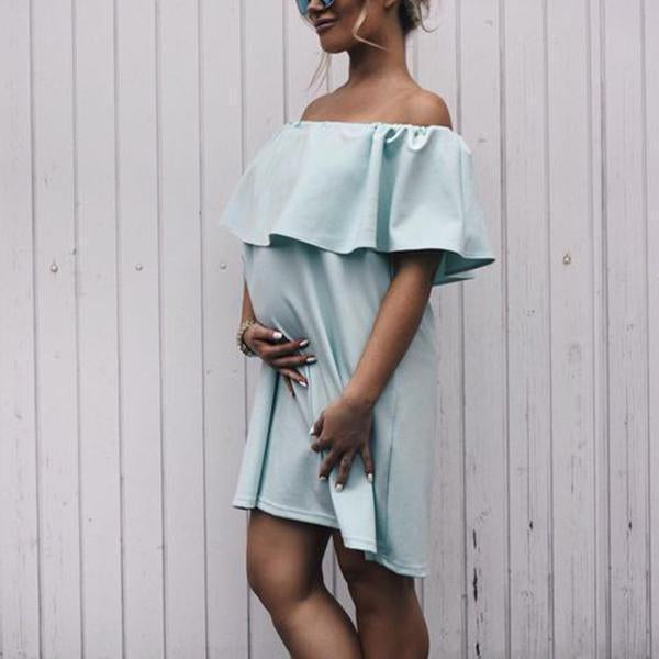 One-Shoulder Ruffled Loose Dress