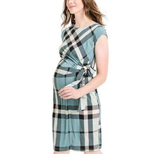 Load image into Gallery viewer, Maternity Round Neckline Printed Bodycon Knee-Length Dress