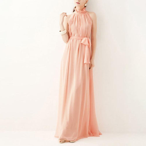 Maternity Chiffon Plain Ankle-Length Formal Casual Dress