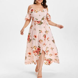 Printed Strapless  Maternity Dress