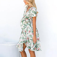 Load image into Gallery viewer, Maternity V-Neck Short Sleeves Printing Daily Dress