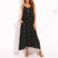 Load image into Gallery viewer, Maternity Floral Print Condole Belt V-Neck Maxi Dress