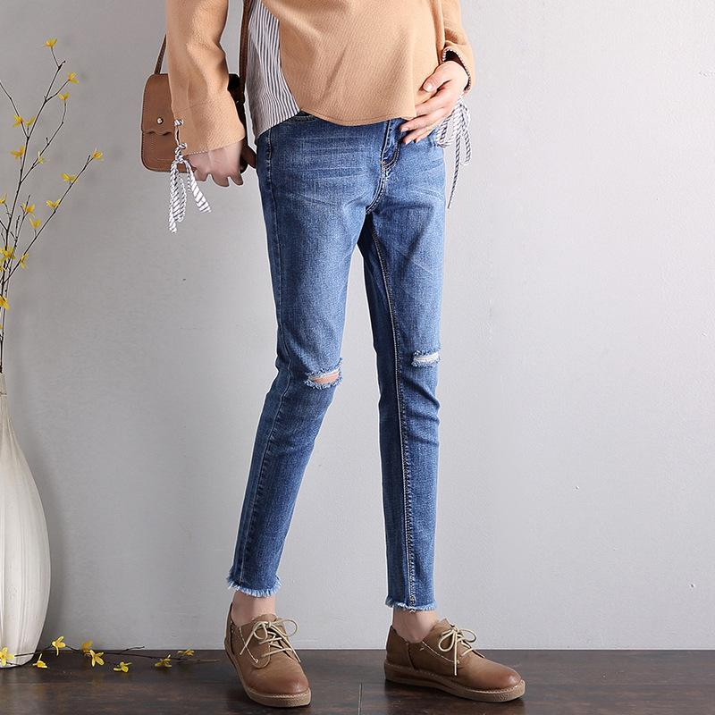 Ripped Jeans And Pencil Pants For Pregnant Women