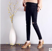 Load image into Gallery viewer, Ripped Jeans And Pencil Pants For Pregnant Women