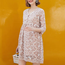 Load image into Gallery viewer, Maternity Lace Long-Sleeved Dress Fashion Hot Mom