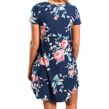 Load image into Gallery viewer, Maternity Short Sleeve Printing Casual Dress