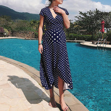 Load image into Gallery viewer, Maternity V-Neck Dot Print Short-Sleeved Dress