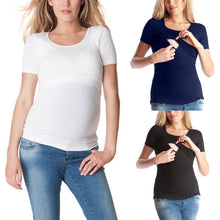 Load image into Gallery viewer, Pregnant Women Round Neck Short-Sleeved T-Shirt