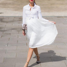 Load image into Gallery viewer, Maternity Solid White Chiffon Skirt