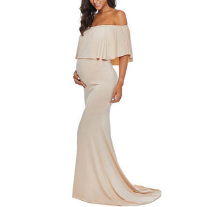 Maternity Solid Color Photoshoot Gowns