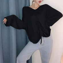 Load image into Gallery viewer, Maternity Solid Color V-Neck Long Sleeve T-Shirt