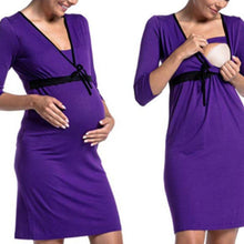 Load image into Gallery viewer, Maternity Feeding & Nursing 3/4 Sleeve Dress
