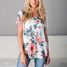Load image into Gallery viewer, Maternity Round Neckline Printed Short Sleeve T-Shirt