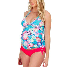 Load image into Gallery viewer, Printed Floral Split Summer Maternity Bikini