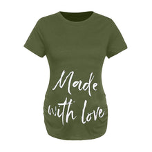 Load image into Gallery viewer, Maternity Letter Short Sleeve T-Shirt
