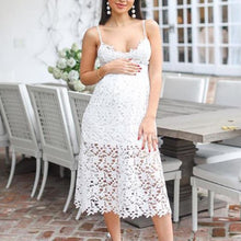 Load image into Gallery viewer, Maternity Sexy Sling Strap Lace Dress