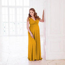 Load image into Gallery viewer, Pregnant V-Neck Sleeveless Women Casual Sexy Evening Dress